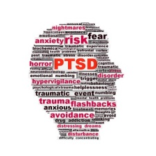 PTSD symbol design isolated on white background. Anxiety disorder symbol design